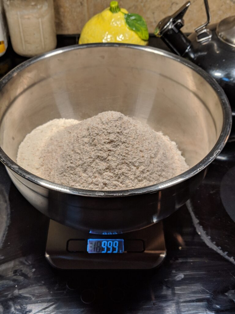 Weighing Flour