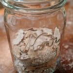Sourdough Flakes in a Mason Jar