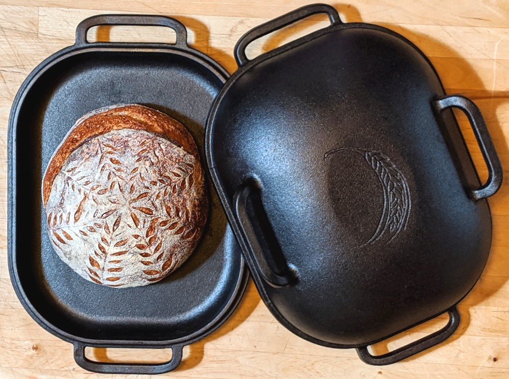 Sourdough bread in the Challenger Bread Pan