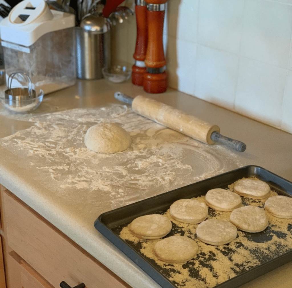 Baking Sourdough English Muffins